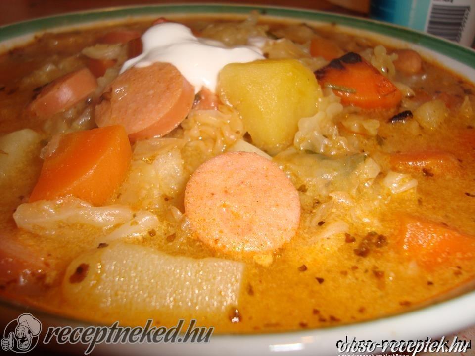 kelkáposzta leves recept