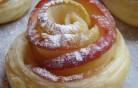 Fahéjas almás rózsácskák receptje