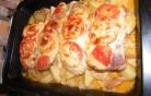 Rakott sült hús zöldségekkel Kép