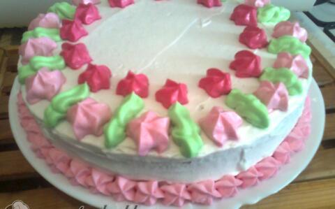 Citromos, túrókrémes torta