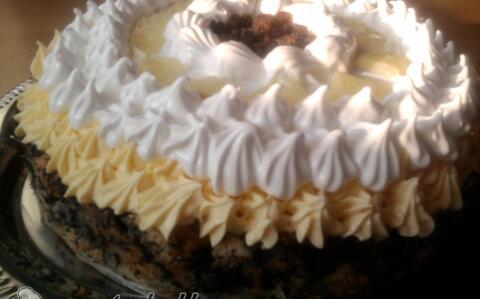 Madártejes mákos guba torta