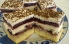 Szedres-túrós süti