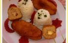 Darálthúsos sajtos sonkás rudacskák