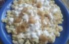 Hagymás, tejfölös galuska kép