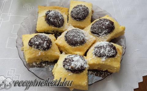 Csokigolyós túrós süti