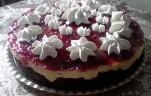Meggyes-pudingos torta