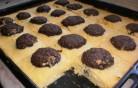 Csokigolyós, túrós süti