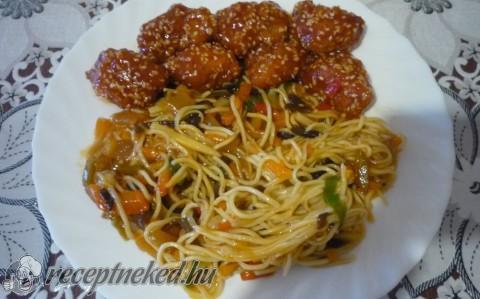 Szezámmagos kínai csirke