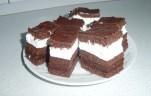 Csokis tejszínes szelet kép