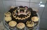 Csokis vaníliakrémes torta kép
