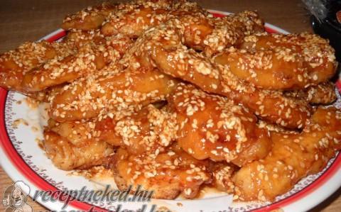 Szezámmagos csirke