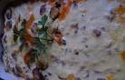 Rakott húsos tészta kép