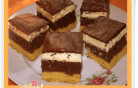 Tejszínes-csokis diós kocka
