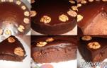 Diós csokoládétorta