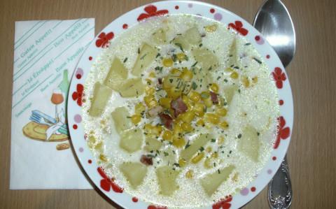 Kukoricás krumpli leves