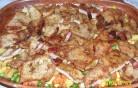Zöldséges hús (cseréptálban)