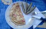 Zöldsges sajtos omlett kép