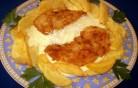 Fűszeres csirkemell sajtmártással