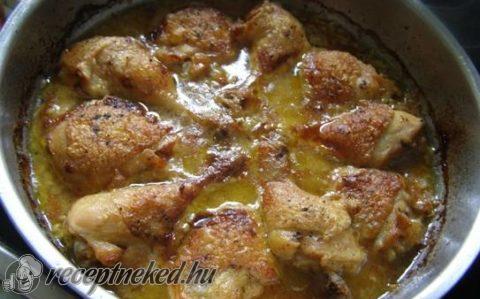 Mustáros hagymás csirke 45 perc alatt