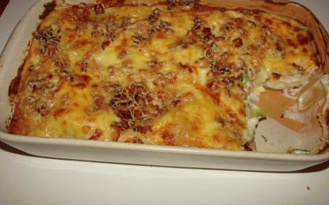 Spárga lasagne