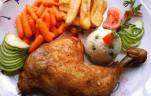 Ropogós,majoránnás csirkecomb