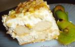 Babapiskóta, tejszínes mézes dinnyével