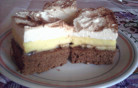 Karamelles-banános sütemény