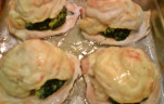 Zöldséges csirkemell csőben sütve