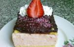 Epres krémes sütemény