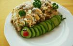 Zöldbabos-krémsajtos csirkecomb