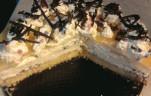Barackos túrókrém torta