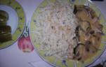 Csirkemell csíkok tejfölösen