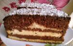 Vajkrémes csokis süti kép