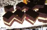 Meggyes csokis kocka