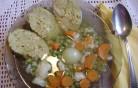 Zöldségleves töltikével