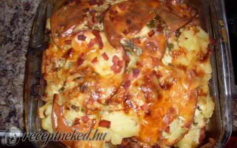 Rakott krumpli fokhagymásan