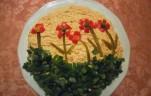 Virágmezős tojásos körözött kép