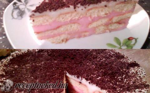 Málnás babapiskótás torta