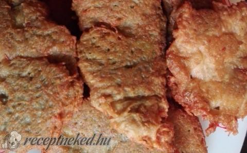 Tócsniban sült hús szeletek