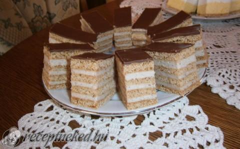 Tejfölös-diós süti