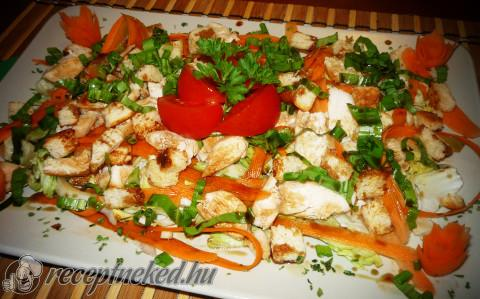 Medvehagymás csirkemell saláta