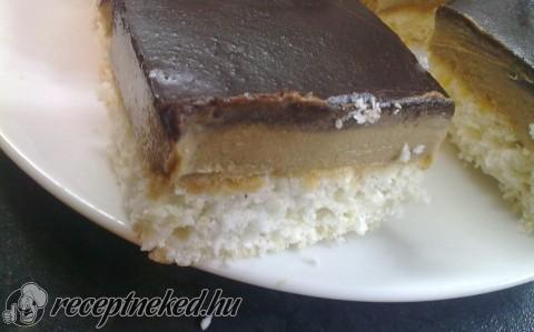 Kávés-kókuszos sütemény