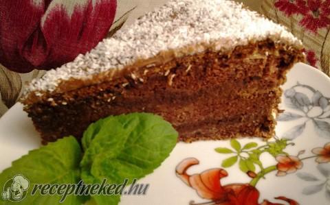 Csokis-mogyorókrémes piskóta
