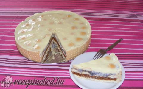 Almás-mákos torta sütés nélkül