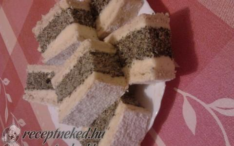 Francia mákos krémes