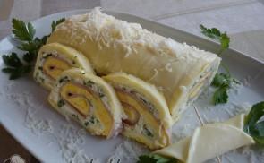 Sonkás sajttekercs