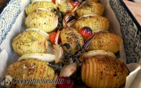 Csíkos burgonya mediterrán ízekkel