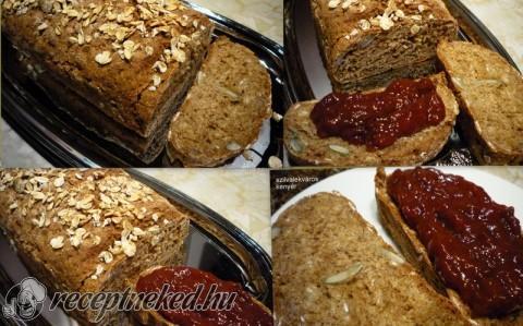 Egészséges kenyér teljes kiőrlésű lisztekből