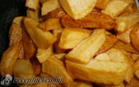 Zöldséges hús sült krumplival