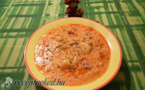 Tárkonyos zöldbabos-húsos leves